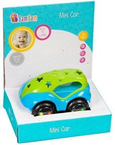 Bam Bam Play To Learn Mini Autko Grzechotka