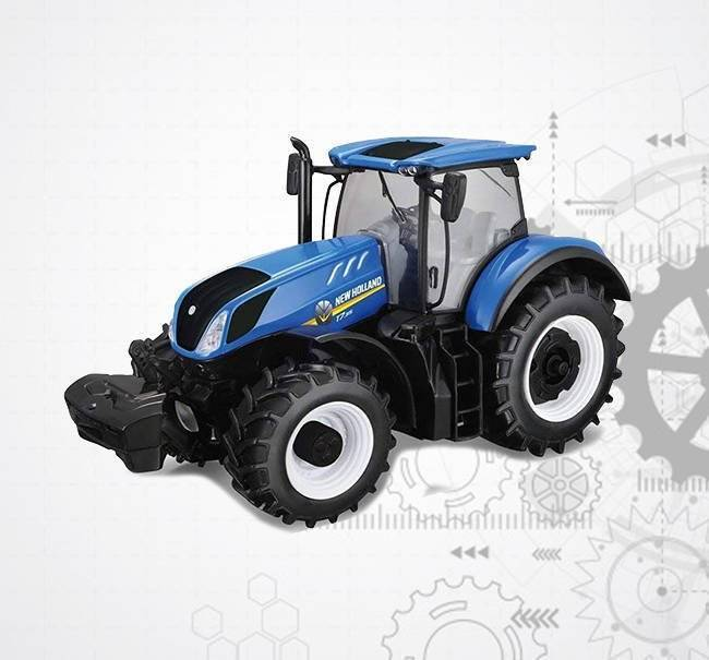 Bburago Model Traktor New Holland Farm T7
