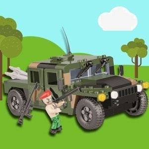 COBI KLOCKI MAŁA ARMIA NATO ARMORED ALL-TERRAIN VEHICLE - CAMO GREEN 255EL