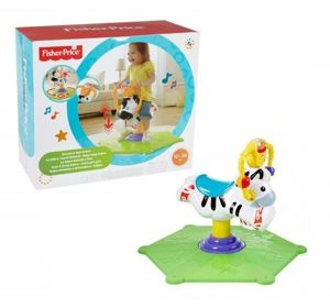 Fisher Price Zebra Skoczek Bujak Rodeo