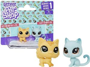 Hasbro Littlest Pet Shop Seria 1 Zestaw Figurki 2pak - Fluffy Catson i Kitty Von Grey-Cat