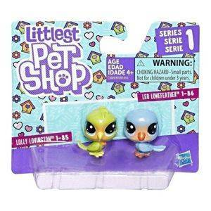 Hasbro Littlest Pet Shop Seria 1 Zestaw Figurki 2pak  - Lolly Lovington i Leo Lovefeather