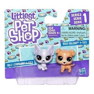 Hasbro Littlest Pet Shop Seria 1 Zestaw Figurki 2pak - Pitbull i Papillion