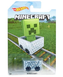 Mattel Hot Wheels Minecraft Autko Pojazd - Creeper Card