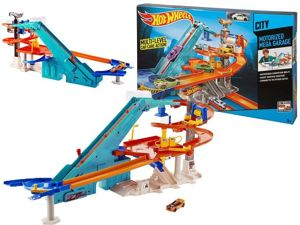 Mattel Hot Wheels Zestaw Garaż 3 Poziomy Tor Parking