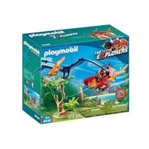 Playmobil The Explorers Helikopter z Pterodaktylem