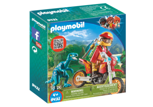 Playmobil The Explorers Rower Motocrossowy z Raptorem
