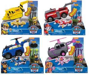 Spin Master Psi Patrol Flip And Fly Pojazd z Figurką - Marshall, Rubble, Chase, Skye