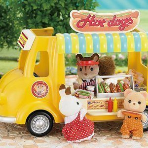 Sylvanian Families Zestaw Food Truck Furgonetka Hot Dog Fast Food