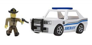 Tm Toys Roblox The Neighborhood Of Robloxia Patrol Car Figurka + Pojazd