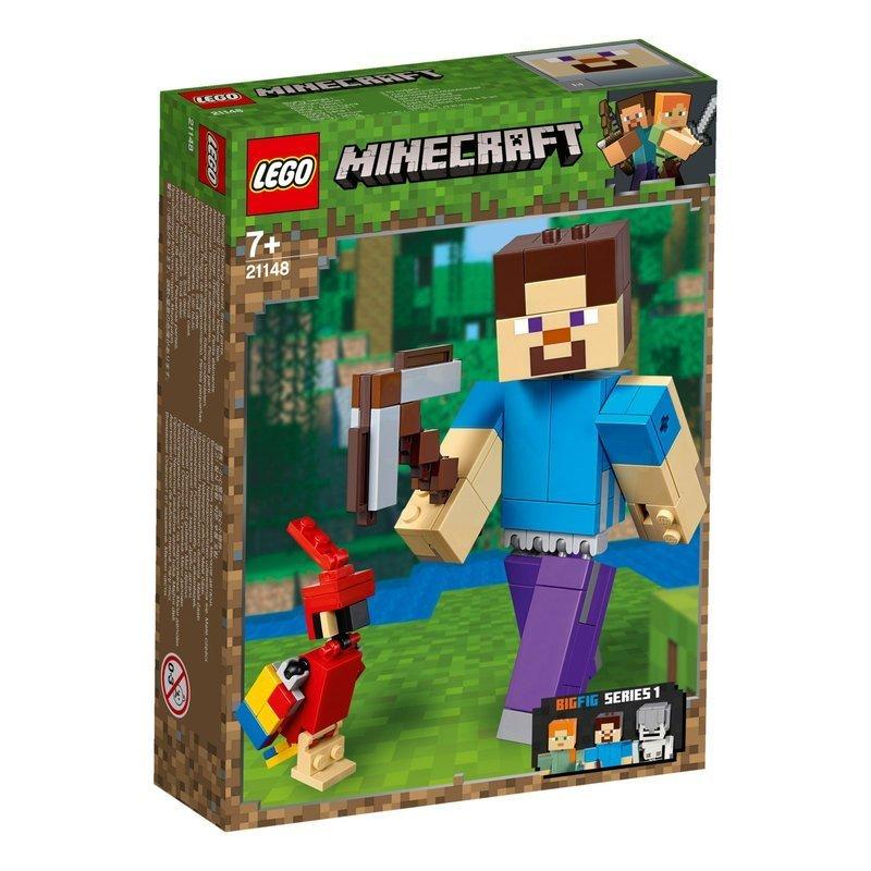 7bf93aebe Lego Minecraft Klocki Figurka Steve z Papugą 159el - sklep ...