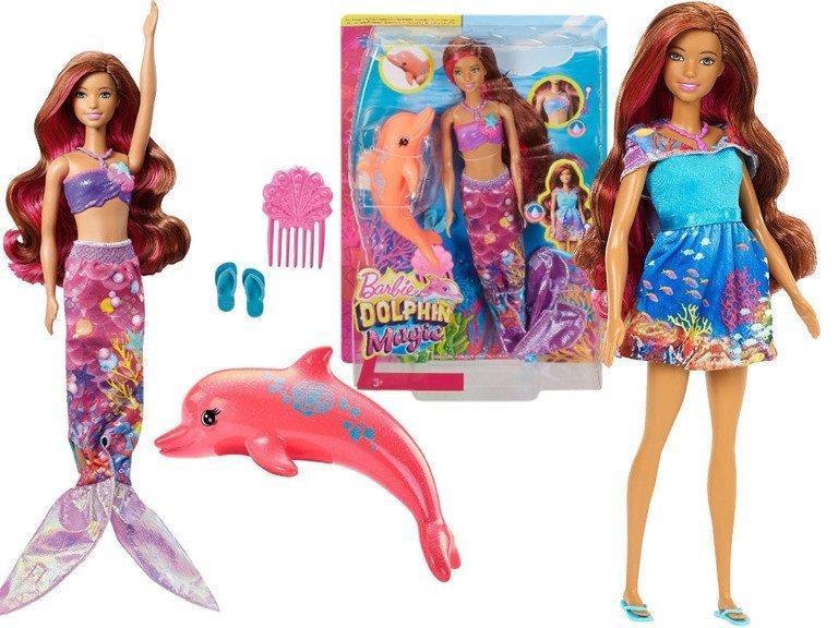 Mattel Barbie Delfiny Z Magicznej Wyspy Lalka Syrenka 2w1