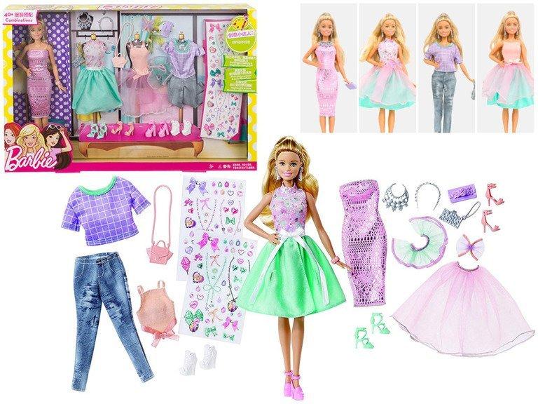 cc89c25379 Mattel Barbie Fashionistas Duży Zestaw Modna Lalka i Ubranka - sklep ...