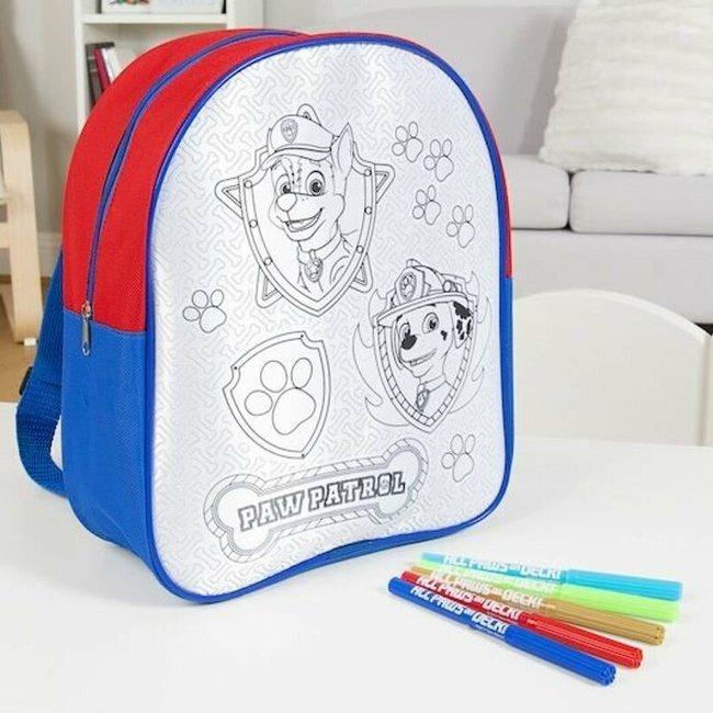 Plecak szkolno-wycieczkowy Psi Patrol do kolorowania