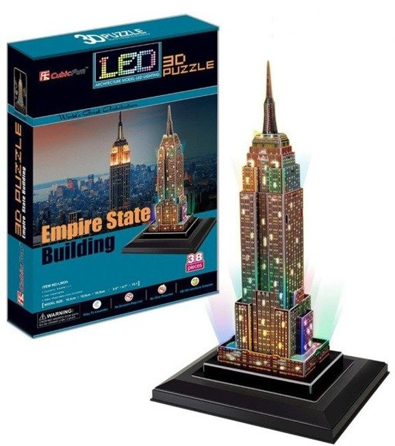 Cubicfun Puzzle 3D LED 38el. - Empire State Building