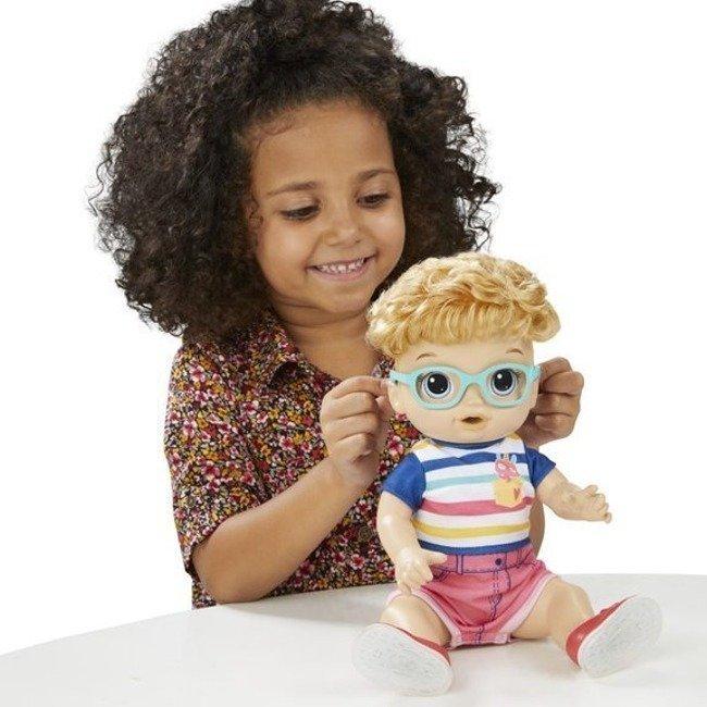 Hasbro Baby Alive Lalka Świecące Buciki Chłopiec Blondyn