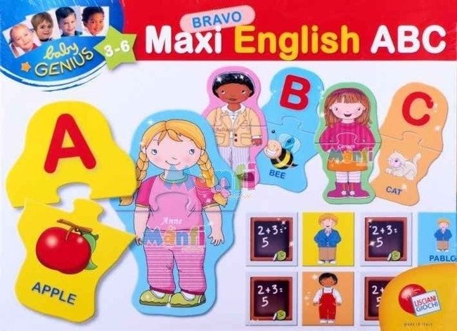 LISCIANI MAŁY GENIUSZ - MAXI ENGLISH ABC