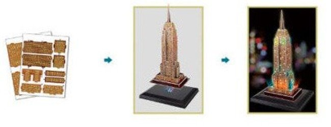 Puzzle 3D LED 38el.Empire State Building